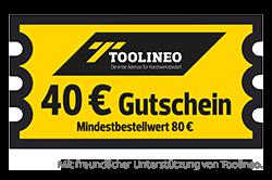 40,- € TOOLINEO-Gutschein - mein-Monteurzimmer des Jahres 2018