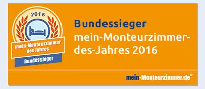 Bundessiegerplakette - mein-Monteurzimmer des Jahres 2016