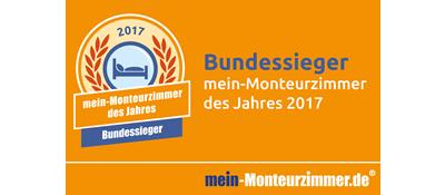 Bundessiegerplakette - mein-Monteurzimmer des Jahres 2017