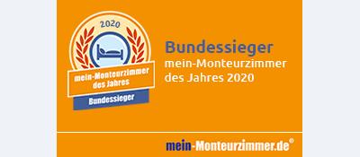Bundessiegerplakette - mein-Monteurzimmer des Jahres 2020