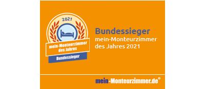 Bundessiegerplakette - mein-Monteurzimmer des Jahres 2021