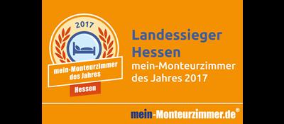 Landessiegerplakette - mein-Monteurzimmer des Jahres 2017