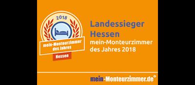 Landessiegerplakette - mein-Monteurzimmer des Jahres 2018