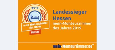 Landessiegerplakette - mein-Monteurzimmer des Jahres 2019